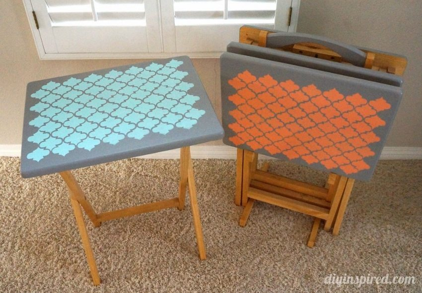 Five Cool Stenciling DIYs for your Kitchen - TV Trays