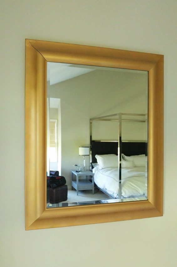 Gold Mirror Makeover