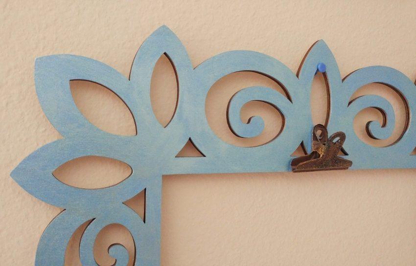 Kids Artwork Display - Blue Pearl Frame