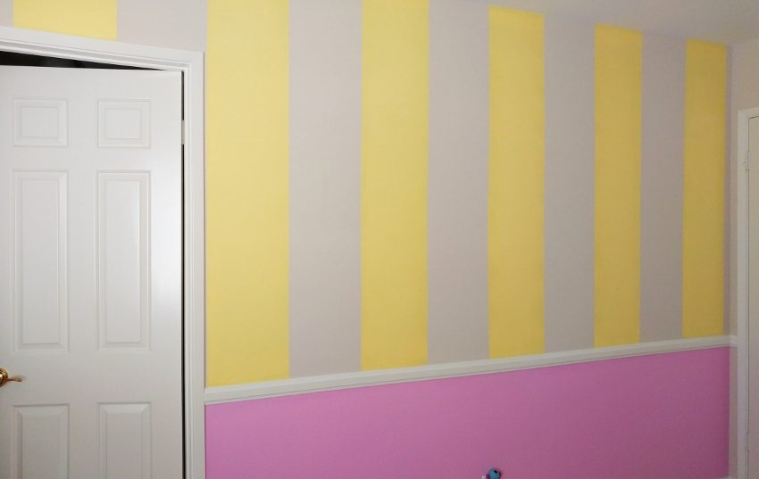 Pink and Yellow Girls Bedroom