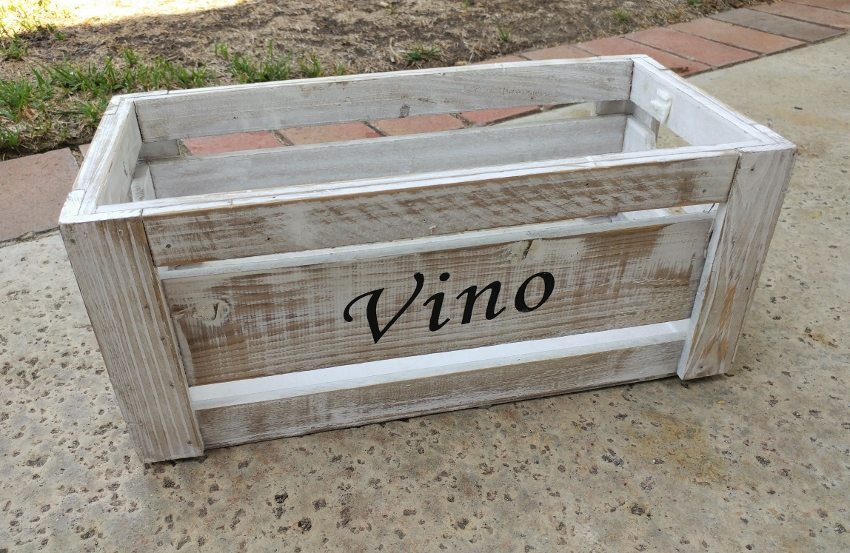 Repurposed Wine Crate