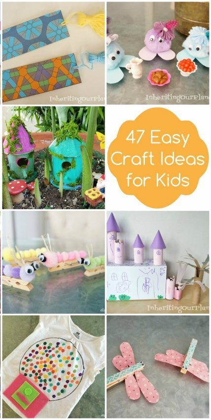 47 Easy Craft Ideas for Kids - DIY Inspired