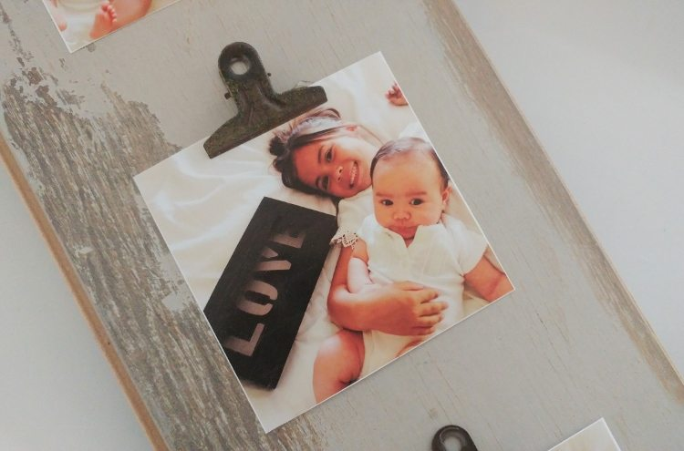 DIY Repurposed Photo Display