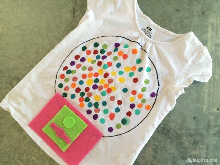 Easy Craft Ideas for Kids - Gumball T Shirt