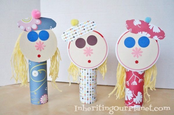 47 easy craft ideas for kids diy inspired for Easy recycling project ideas