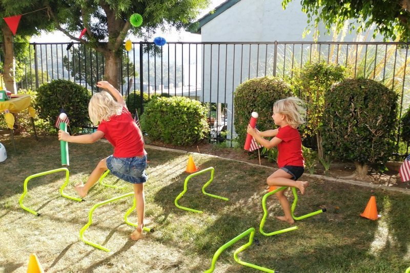 Egg and Bounty Paper Towel Roll Obstacle Course (4)