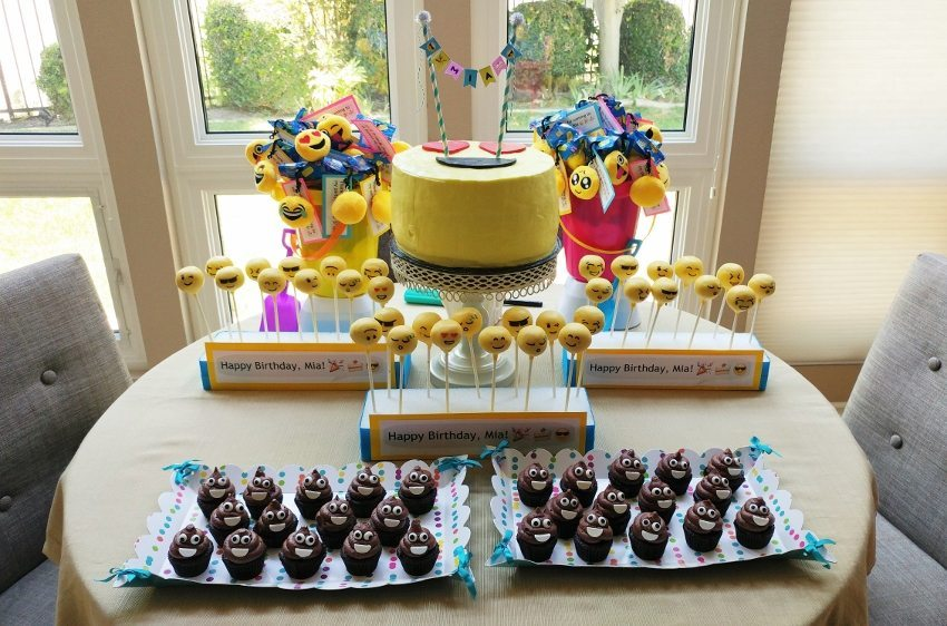 Emoji Birthday Party Ideas DIY Inspired