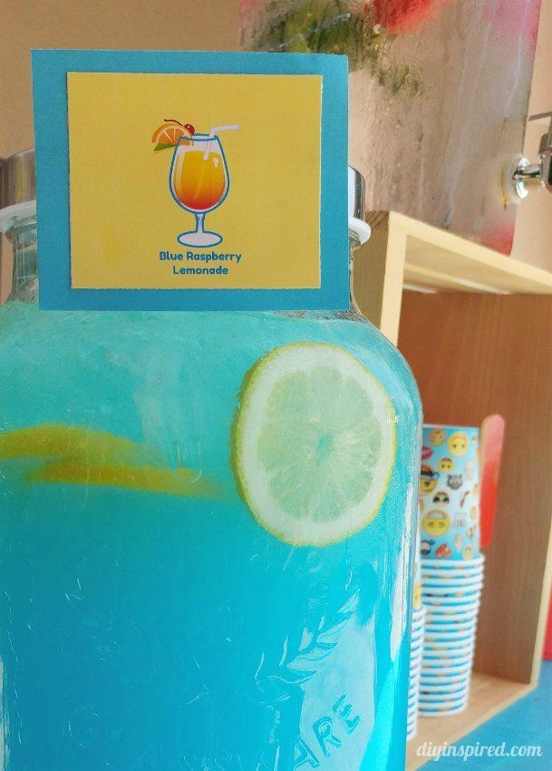 Emoji Party Drink Station - Blue Raspberry Lemonade