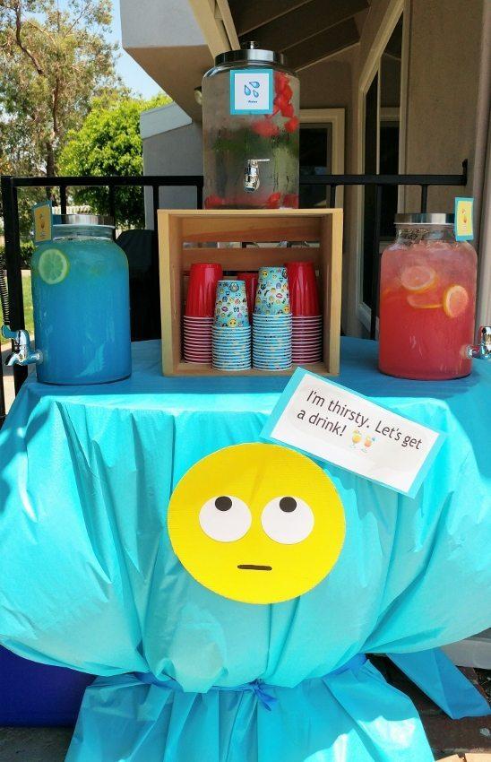 Emoji Party Drink Station - DIY Inspired