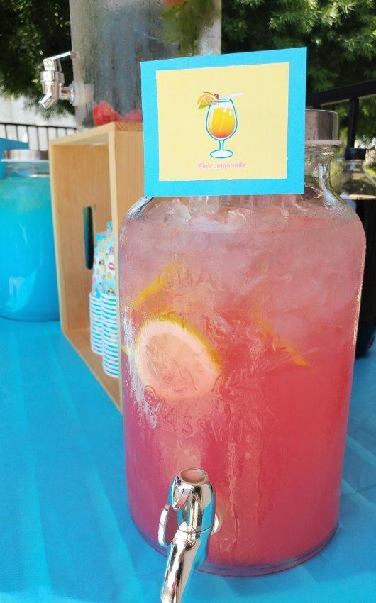 Emoji Party Drink Station - Pink Lemonade