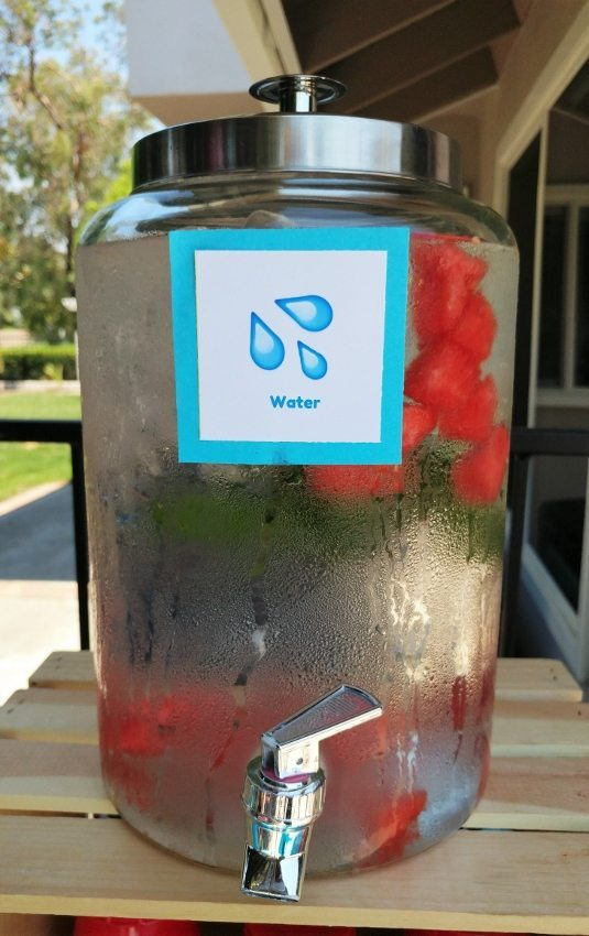 Emoji Party Drink Station - Water Emoji