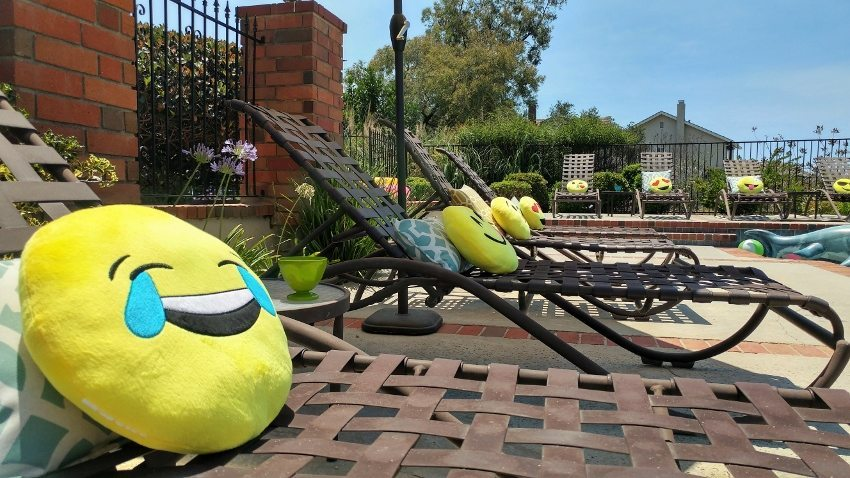 Emoji Pillows for a Party - Laughing Emoji