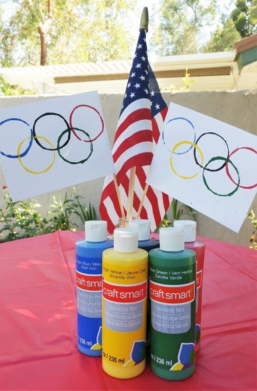 Olympic Flag Kids Craft - Recycled Craft