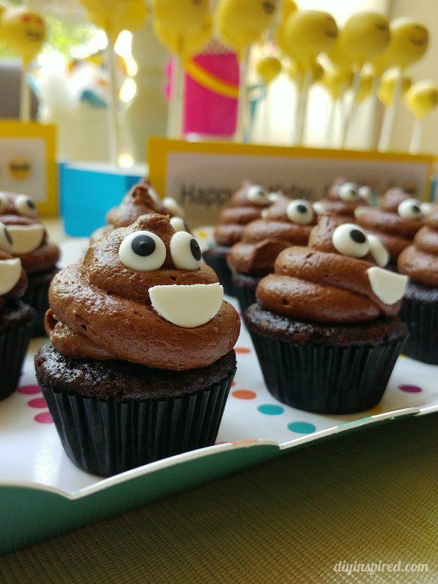 Poop Emoji Cupcakes - DIY Inspired