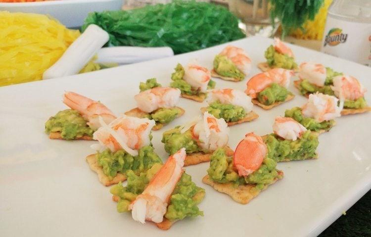 Shrimp, Guacamole, Crackers
