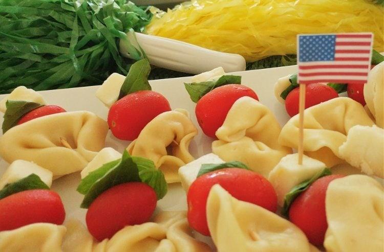Tortellini, Cherry Tomatoes, Basil, Cheese