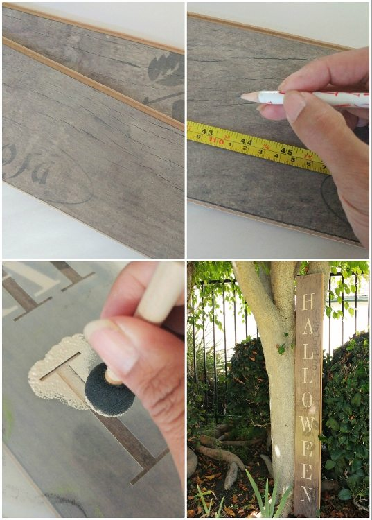 how-to-make-a-repurposed-flooring-plank-halloween-sign