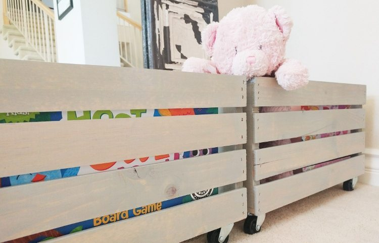 Make your own diy toy storage diy inspired Build your own toy chest