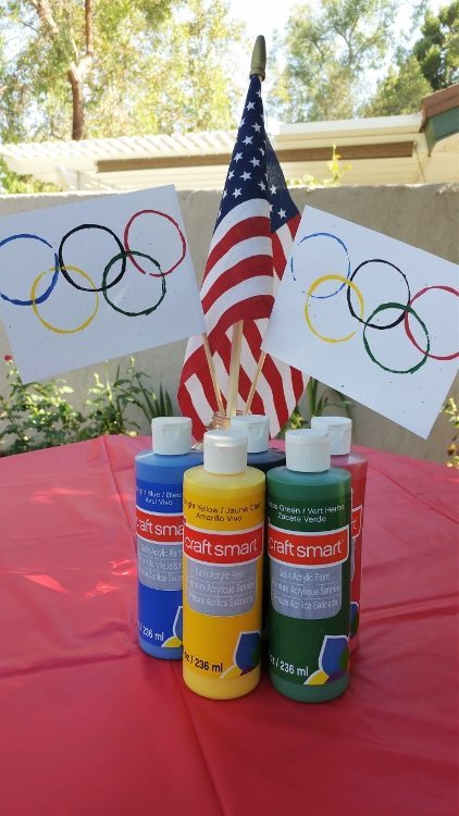 Summer Olympics Party Craft Table for Kids