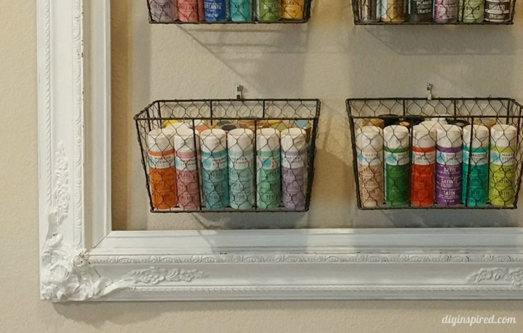 Upcycled frame to craft storage diy inspired Homemade craft storage ideas
