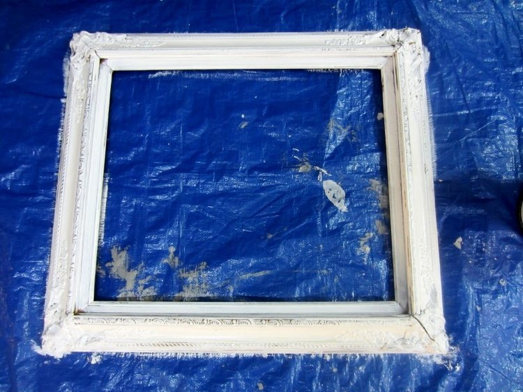 White Painted Frame