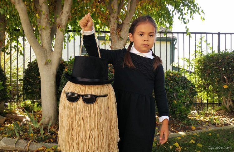cousin-it-and-wednesday-addams-halloween-costume