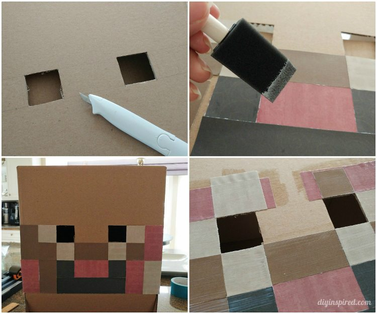 diy-minecraft-head-costume & DIY Minecraft Costume Instructions - DIY Inspired
