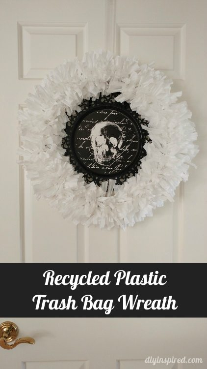 Recycled Plastic Trash Bag Wreath Diy Inspired