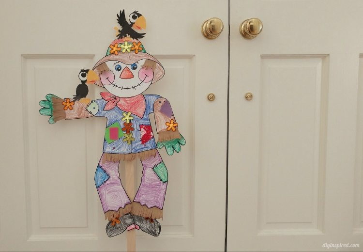 Dancing Scarecrow Puppet Fall Craft For Kids Diy Inspired