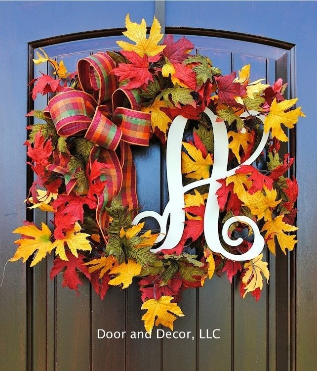 fall-wreaths-monogrammed