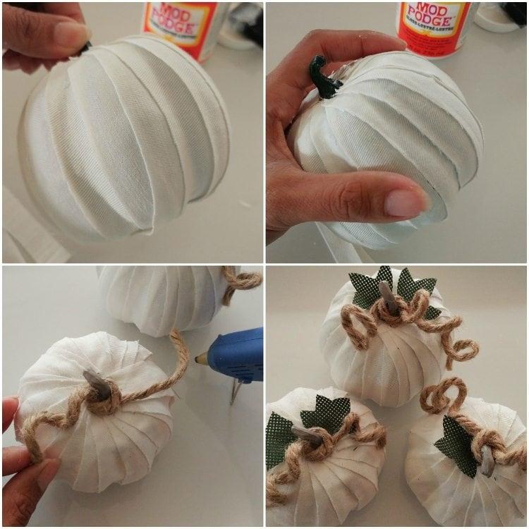 how-to-decoupage-fabric-pumpkins