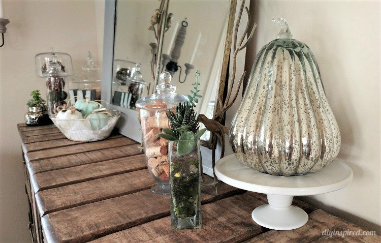 thanksgiving-home-decor-ideas-mercury-glass-gourds