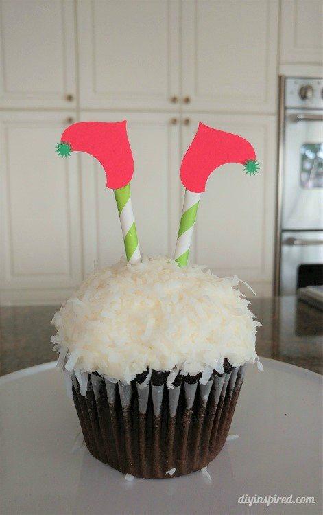 diy-christmas-elf-legs-cupcake-toppers