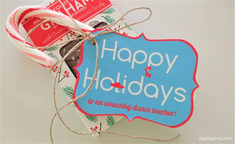 Dance Teacher Printable Christmas Gift Tags - DIY Inspired
