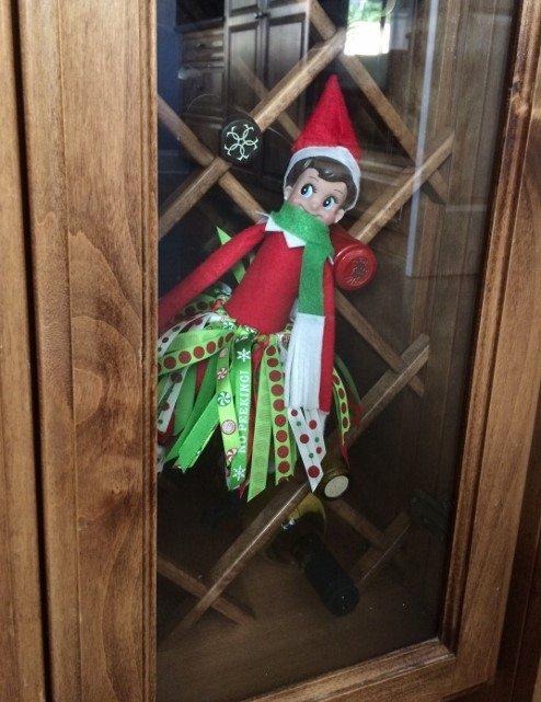 elf-on-the-shelf-ideas-wine-storage