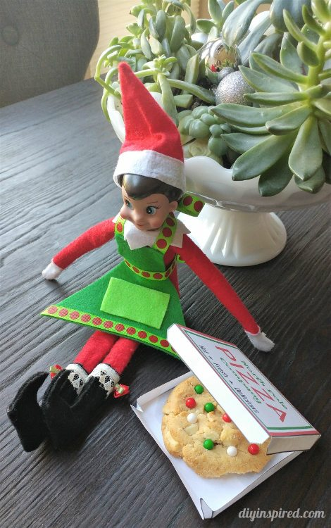 Elf on the shelf pizza box template diy inspired for Elf shelf craft show