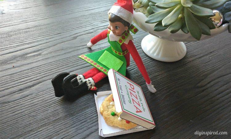 Elf On The Shelf Pizza Box Template Diy Inspired