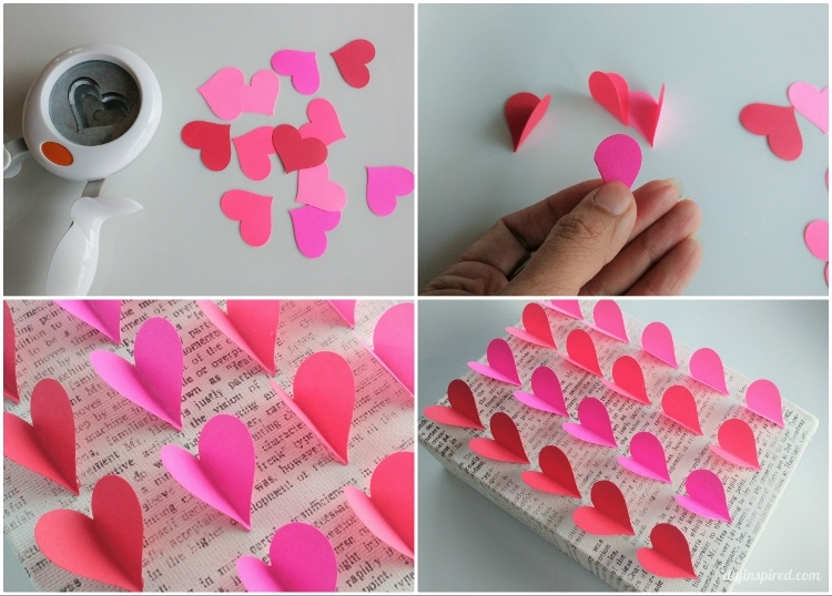 Heart Paper Craft Idea DIY Wall Art With Punches