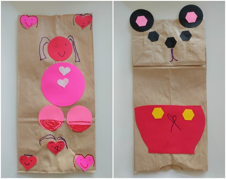 Kid S Craft Valentine S Day Lunch Bags Diy Inspired