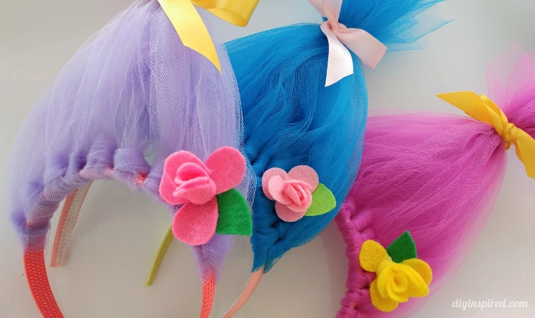 Diy Troll Hair Headbands Inspired