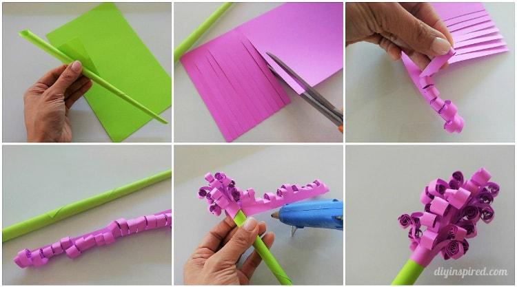 Diy curled hyacinth paper flowers diy inspired mightylinksfo