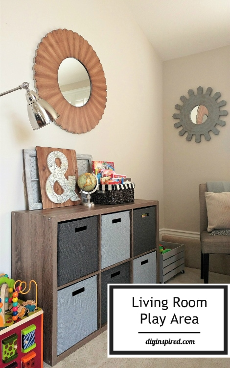 How to create a play area in the living room diy inspired for Kids play area in living room ideas