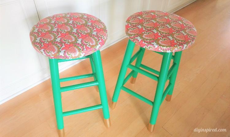 gold dipped bar stools