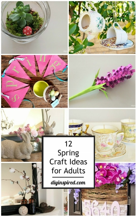 12 spring craft ideas for adults diy inspired