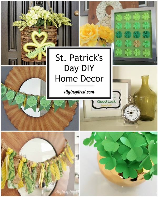 St patrick s day diy home d cor ideas diy inspired for St patricks day decorations for the home