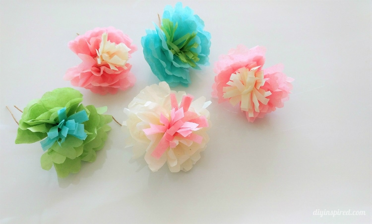 DIY Mini Tissue Paper Flowers Bouquet - DIY Inspired