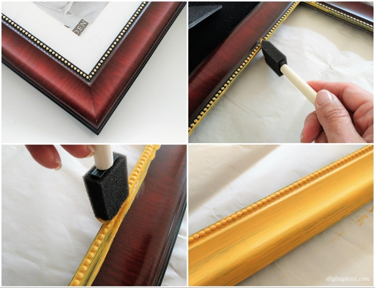 thrift stores are a great resource for old picture frames there are usually several styles to choose from for a low price i picked one that came with a