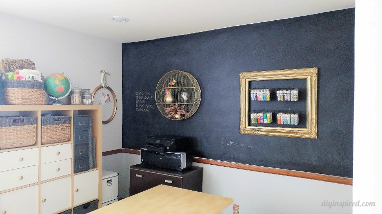 how to paint a chalkboard wall diy inspired. Black Bedroom Furniture Sets. Home Design Ideas