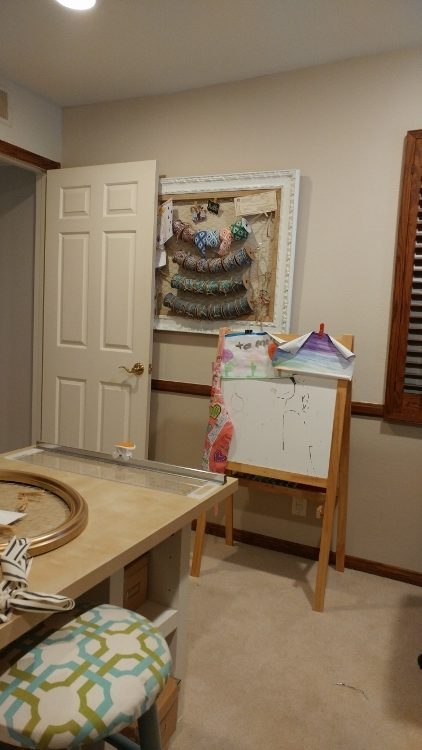 Craft room makeover paint and color consultation diy for Craft room paint colors