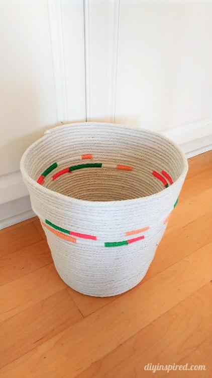 Diy Rope Basket With Yarn Diy Inspired